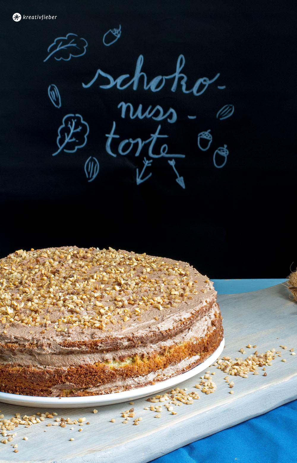 rezept schoko nuss torte schokoladentorte