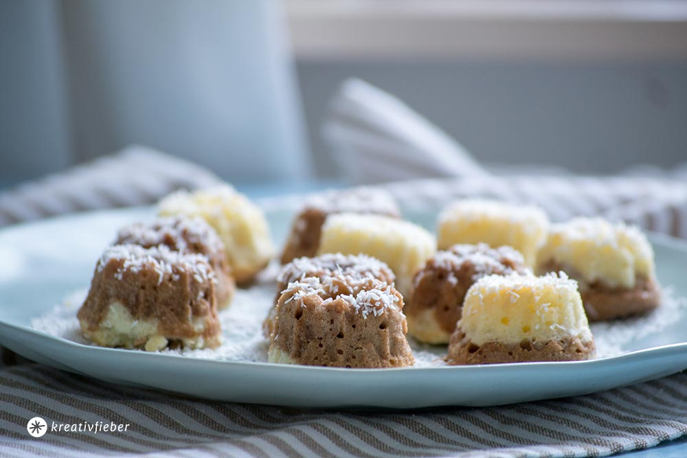 Rezept für Gugelhupfe Kokos und Schokolade