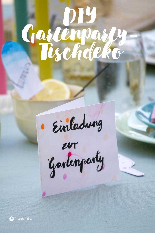 DIY papeterie für party selbermachen
