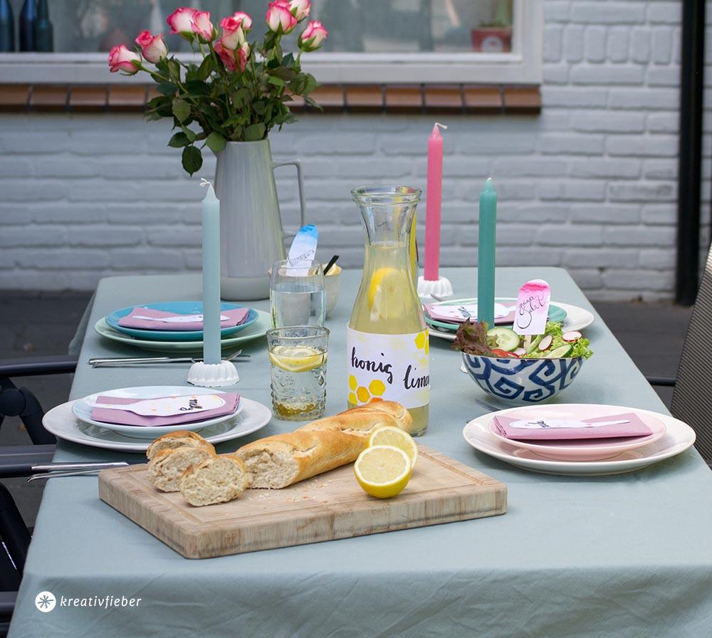 Tischdeko für Party selbermachen