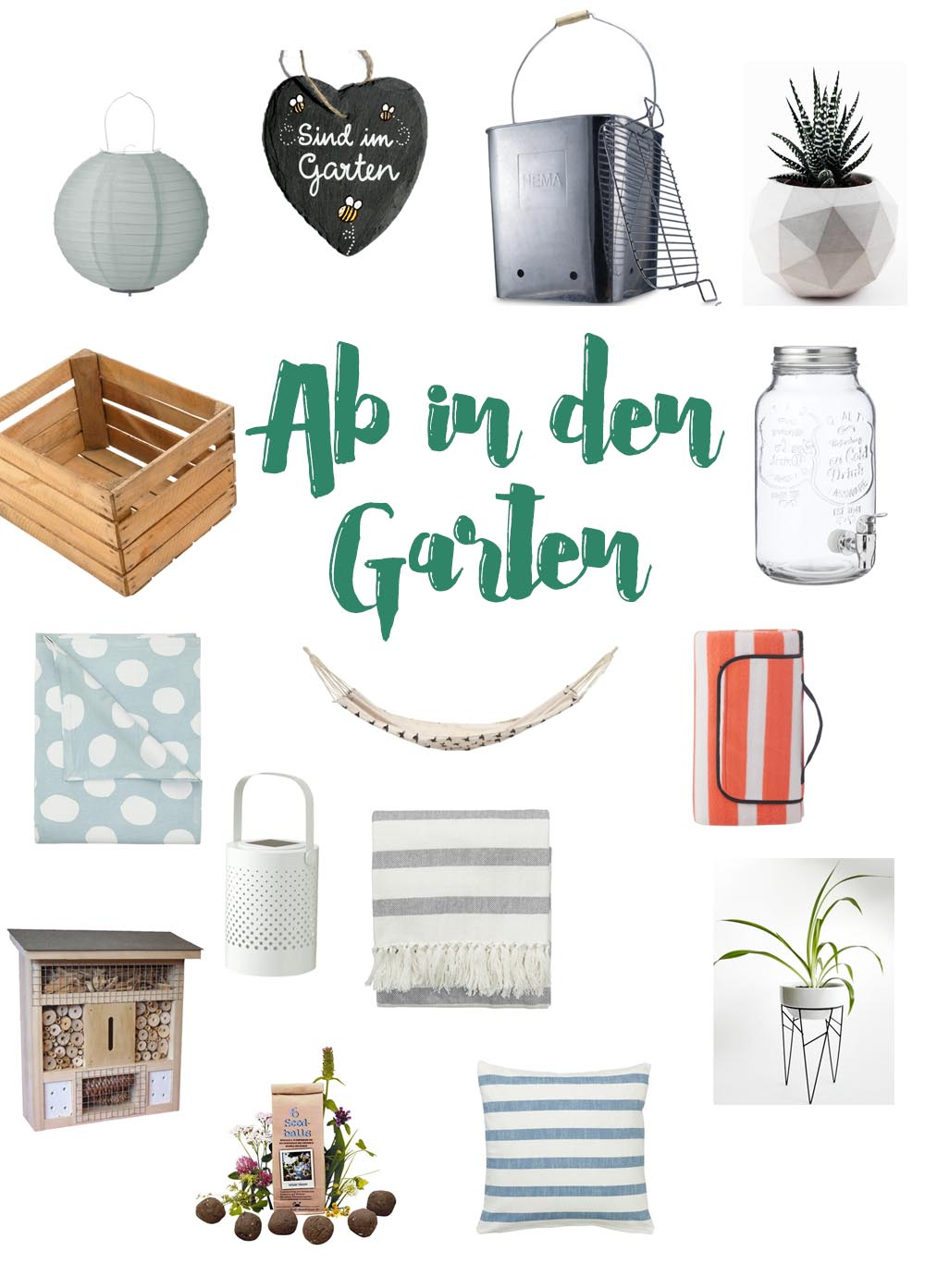 Gartensaison must-haves