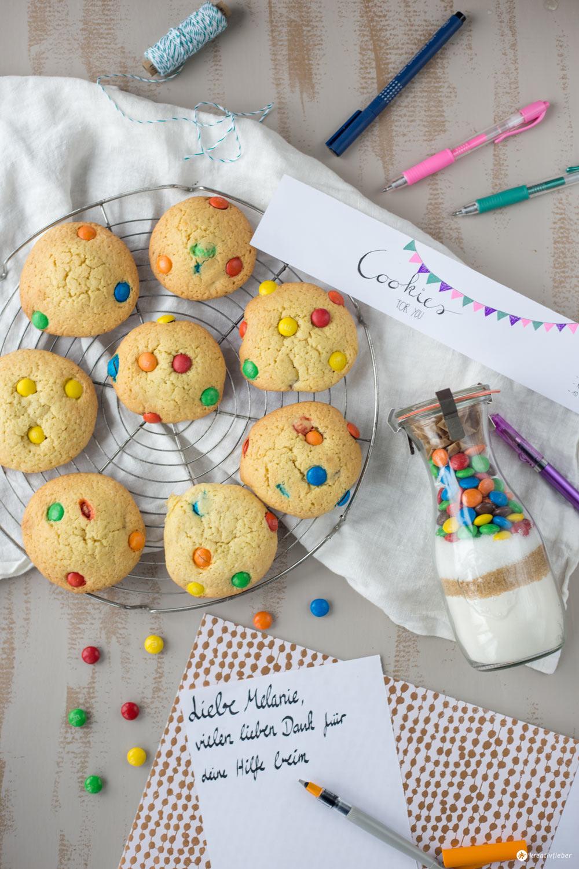 Cookies im Glas verschenken - Geschenke aus der Küche - DIY Geschenkidee