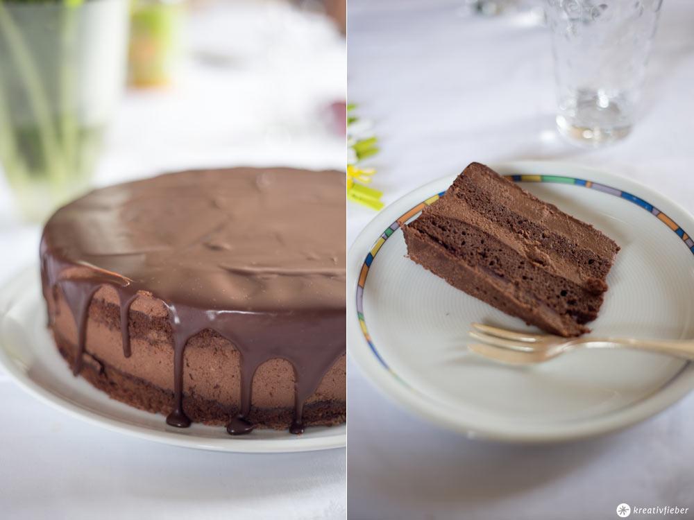 Double Chocolate Drip Cake - Schokocremetorte backen - Sonntagskuchen