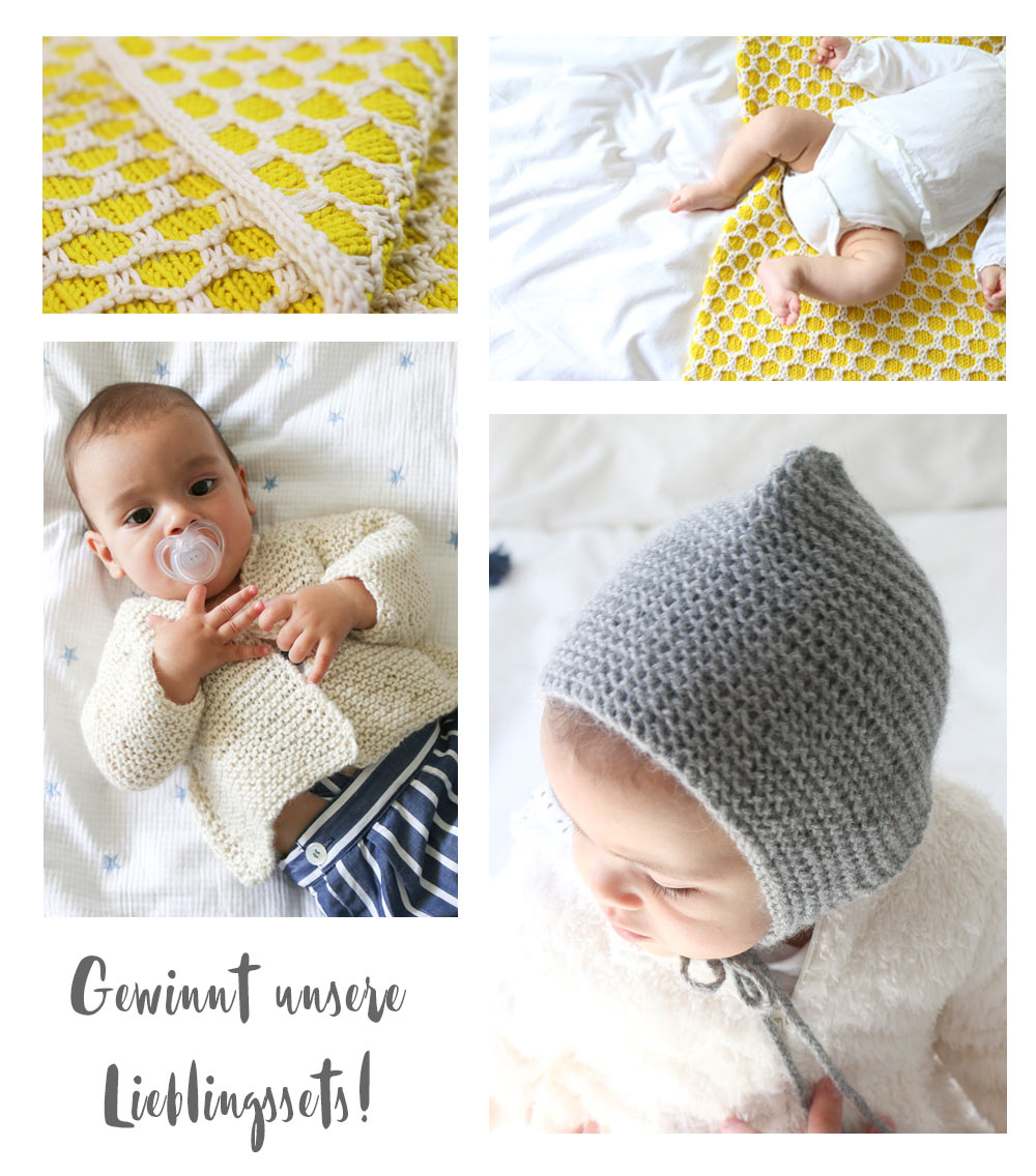 Stricksets für Babys - weareknitters - Gewinnt die Kreativfieber Lieblingssets