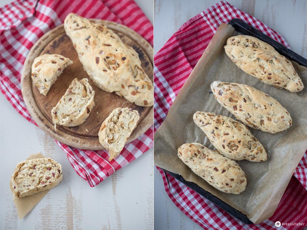 Zwiebel-Schinken-Brot selbermachen - Grillrezeptidee, Partysnack und Picknickrezept - mit Balsamico Zwiebeln