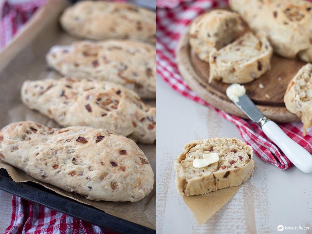 Zwiebel-Schinken-Brot selbermachen - Grillrezeptidee, Partysnack und Picknickrezept