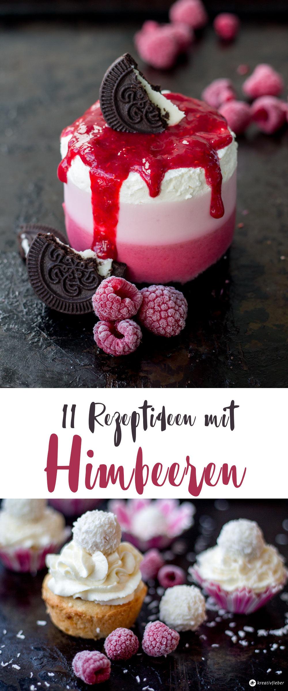 11 Rezeptideen mit Himbeeren - Sommerezepte - Eis, Cupcakes, Kuchen, Desserts und Marmelade