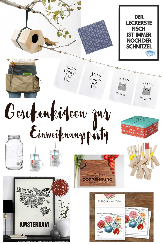 Geschenkideen zur Einweihungsparty - schöne Geschenke zum Umzug und zum Einzug