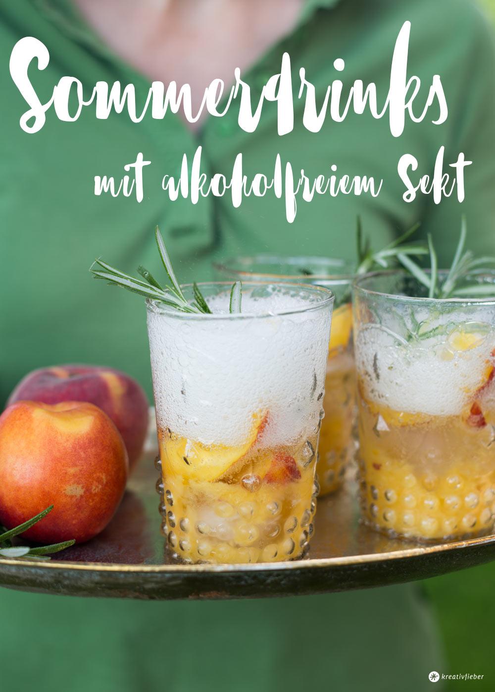 Rezepte mit alkoholfreiem Sekt - Cocktails für Schwangere ohne Alkohol - Sommerdrinks