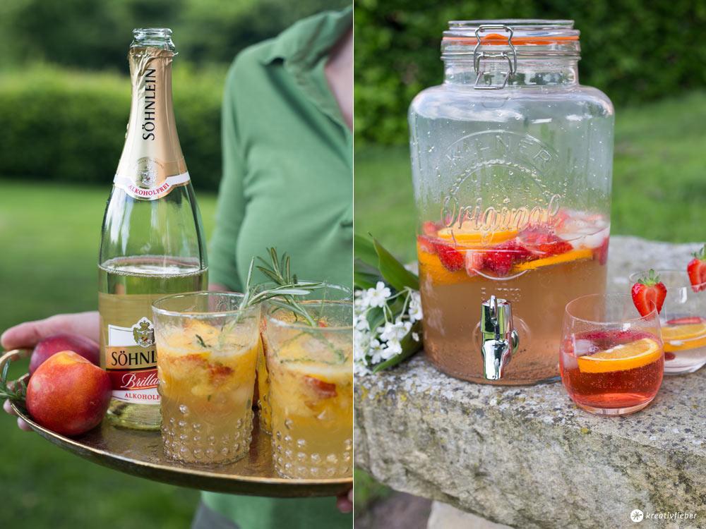 Rezepte mit alkoholfreiem Sekt - alkoholfreie Sommercocktails
