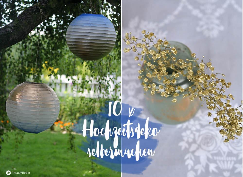 10 ideen DIY Hochzeitsdeko Selbermachen