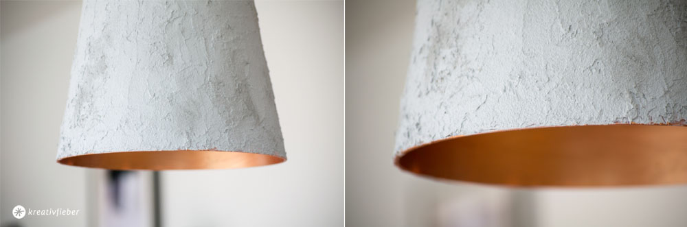 Betonlampe mit Kupfereffekt DIY