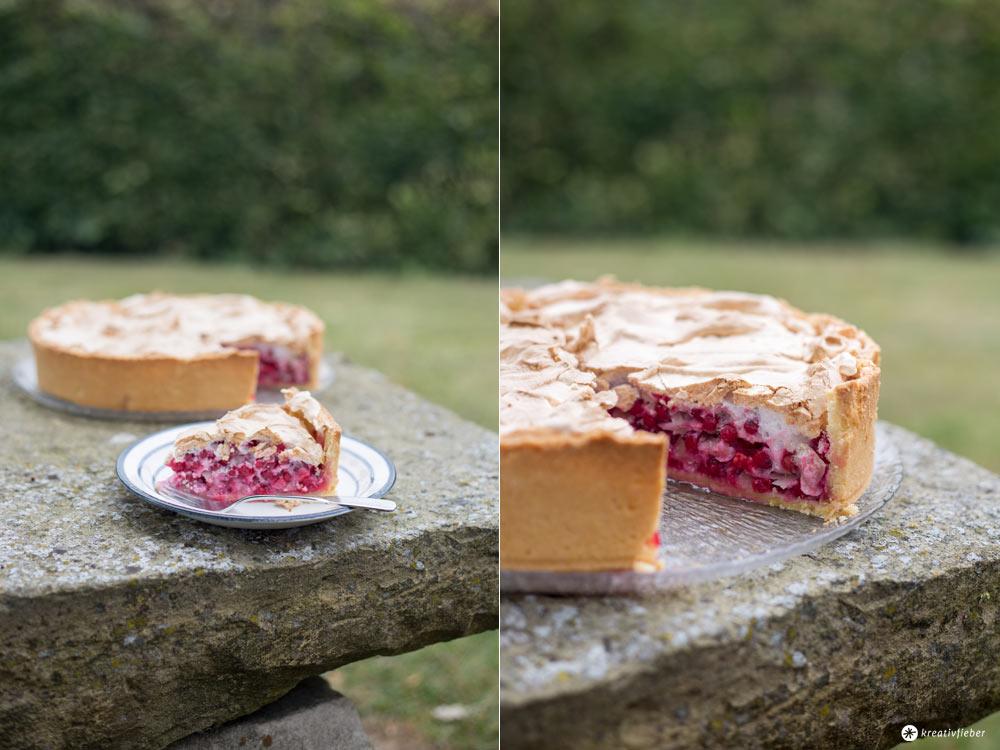 Träubletarte - Kuchen mit Johannisbeeren, Mandeln und Baiser - Sonntagskuchen Rezeptideen