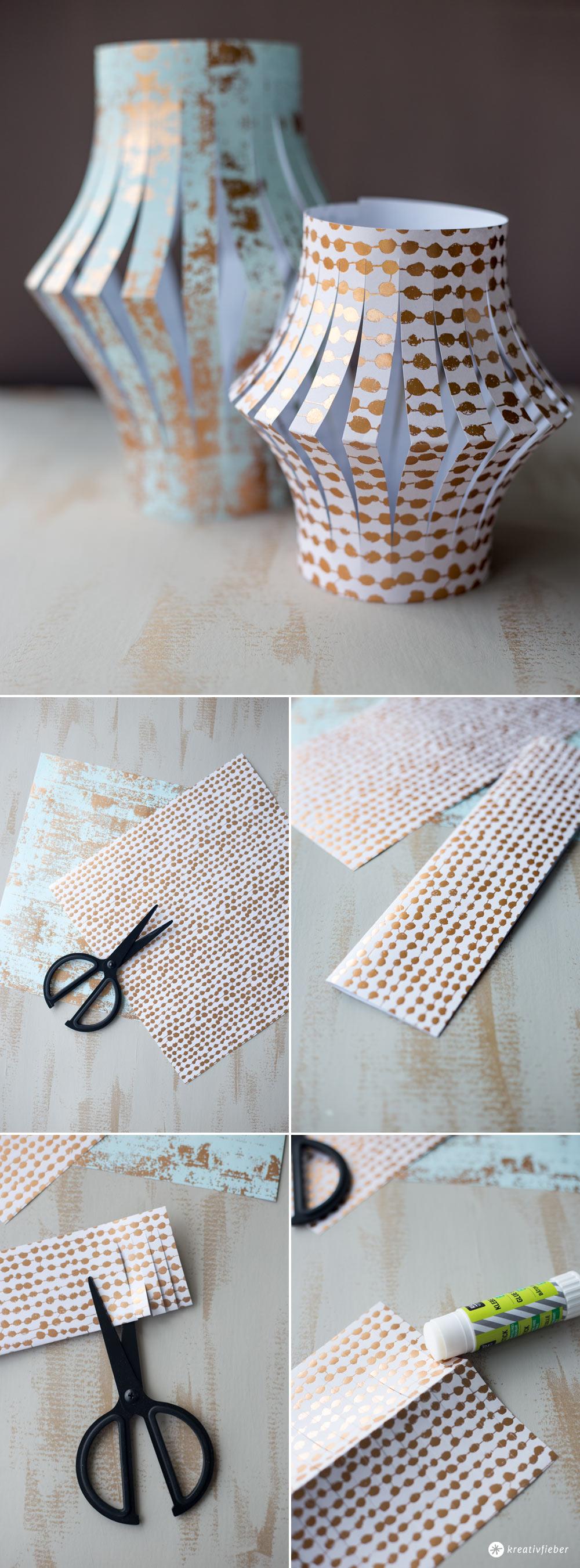 DIY Papierlaternen für den Balkon selbermachen - Schritt für Schritt Anleitung auf Kreativfieber
