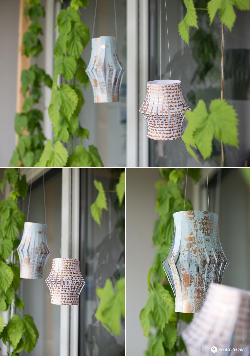 DIY Papierlaternen für den Balkon selbermachen - Schritt für Schritt Anleitung - einfache Bastelidee