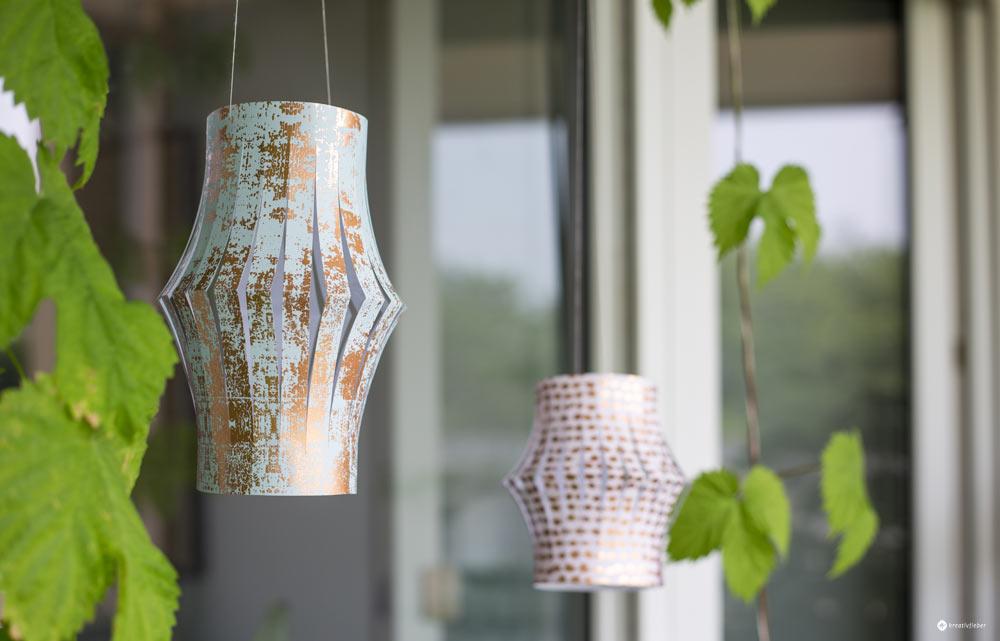 DIY Papierlaternen für den Balkon selbermachen - einfache Bastelanleitung - Basteln mit Papier