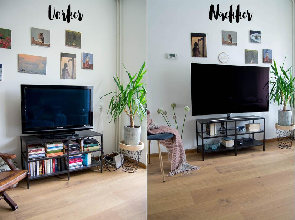 Kabelsalat am Fernseher die Lösung