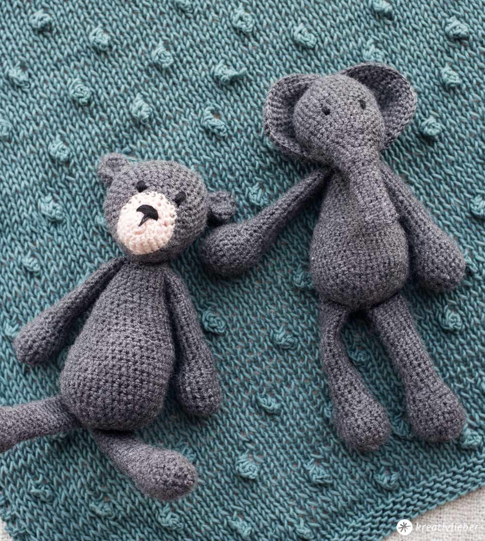 Süße Tiere häkeln - DIY für Babys - Geschenkidee zur Geburt