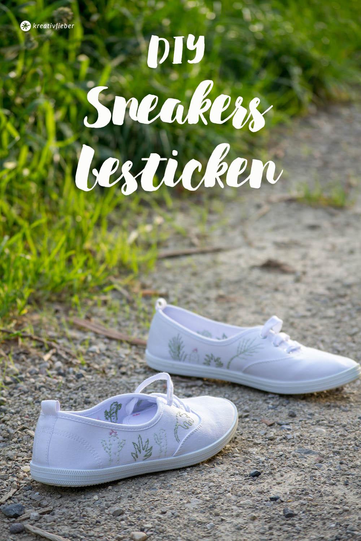 Schuhe besticken Anleitung