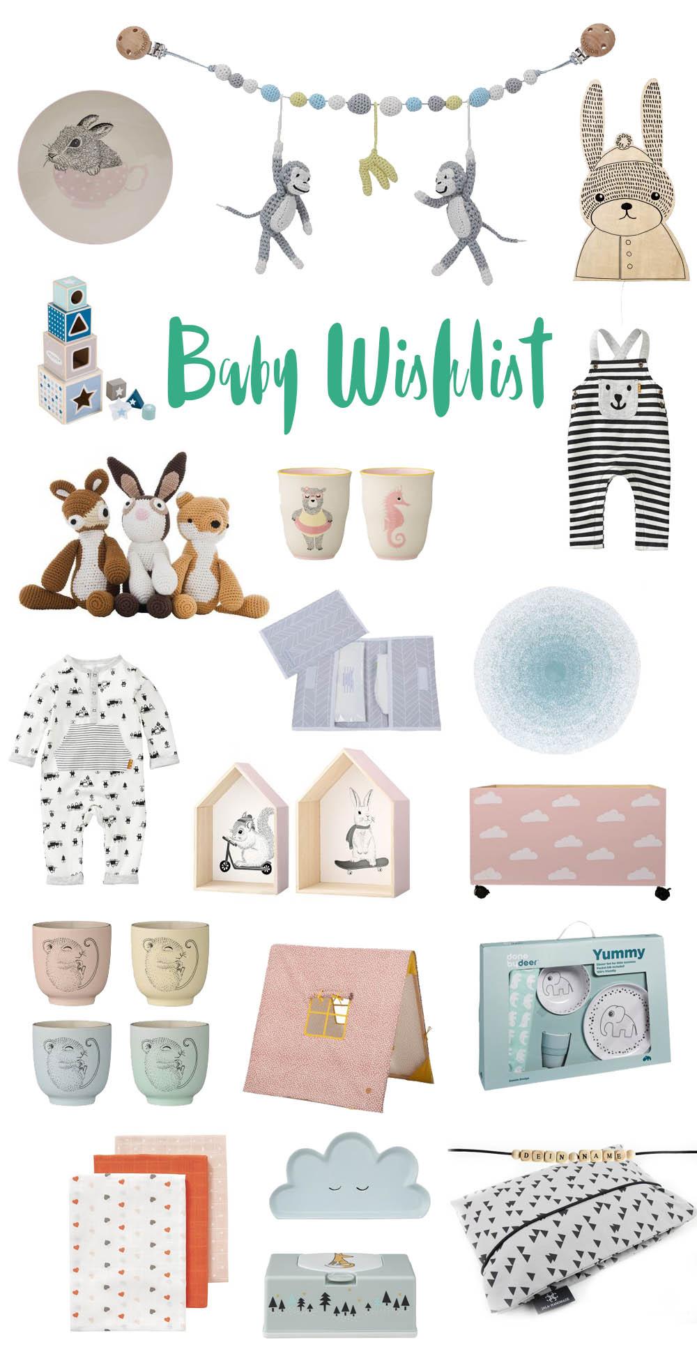Baby Wishlist Geschenkideen für Babyshower
