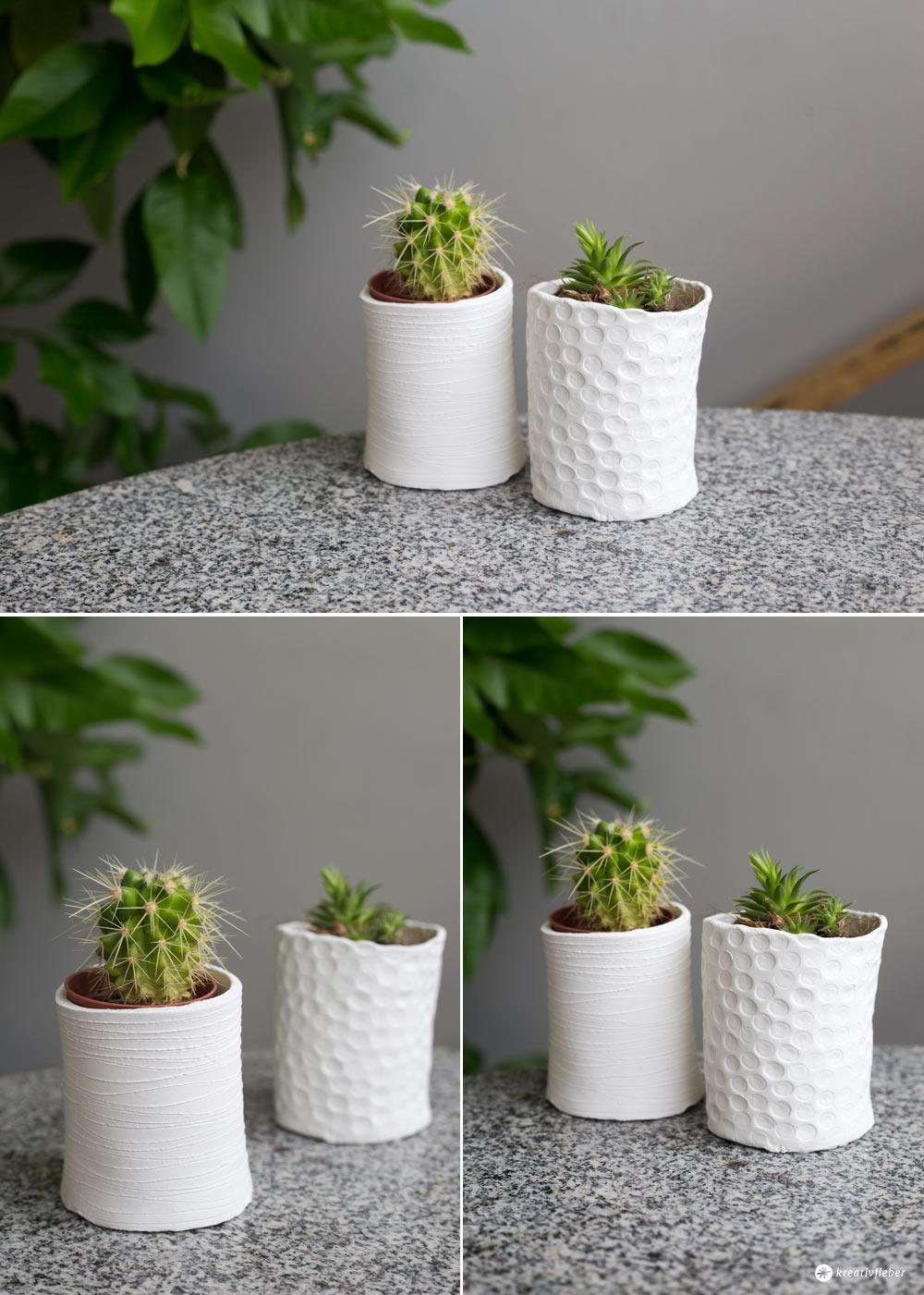 DIY mini Vasen für Sukkulenten selbermachen - Schritt für Schritt DIY Tutorial - Kreativfieber
