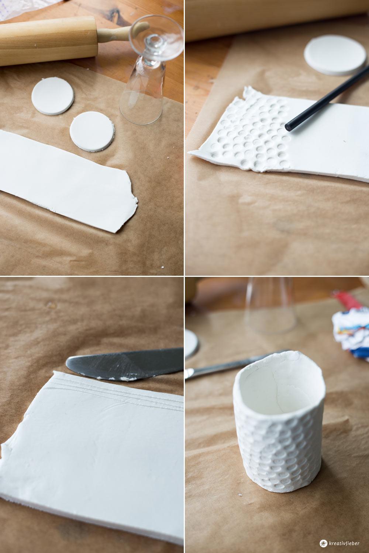 DIY mini Vasen für Sukkulenten selbermachen - Schritt für Schritt - Kreativfieber