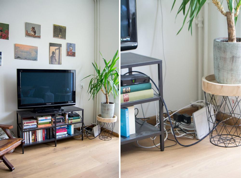 Fernseher ohne Kabelsalat einfache Kabelordnung