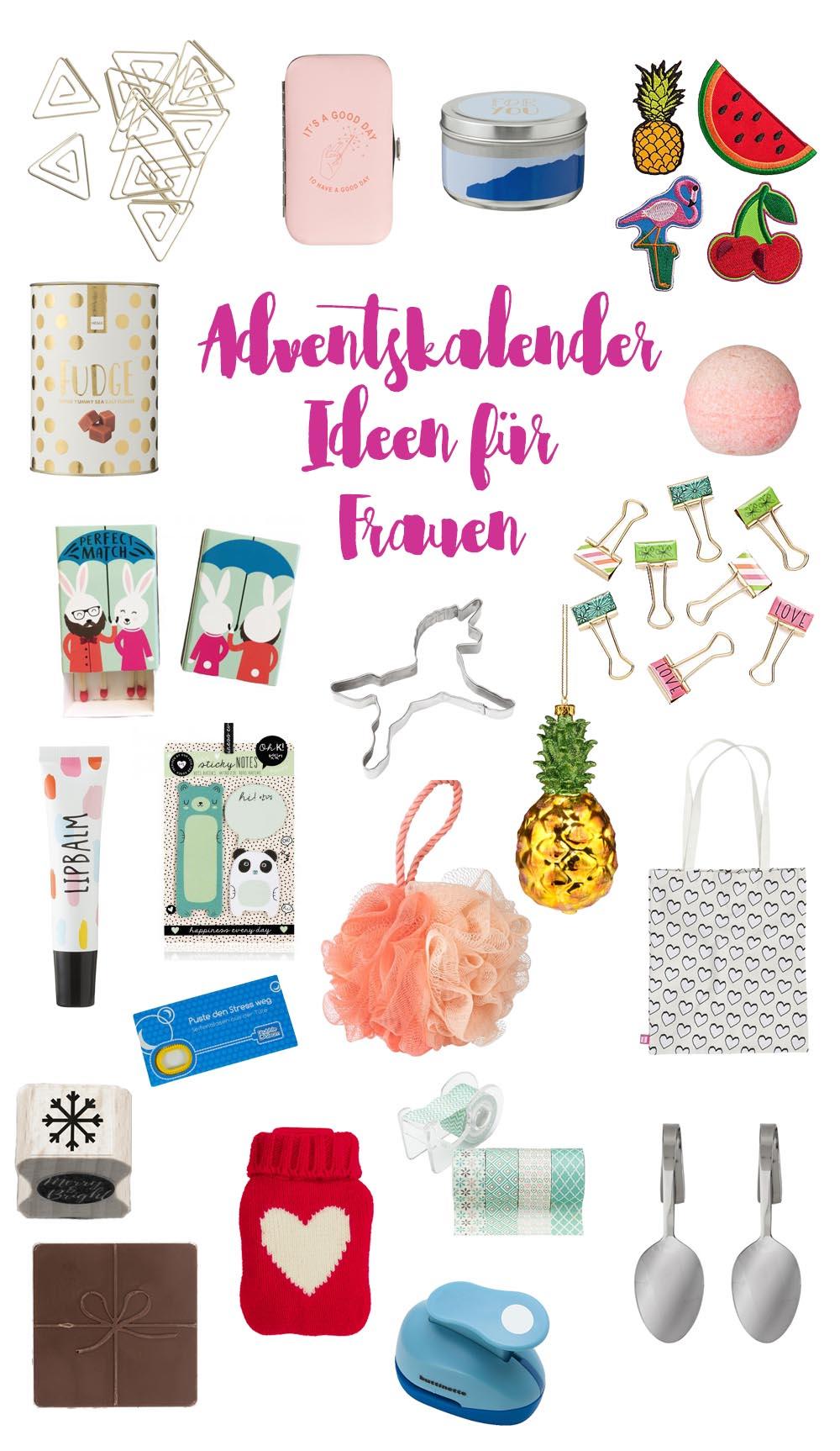 Adventskalenderideen für Frauen, kleine Geschenke 2017
