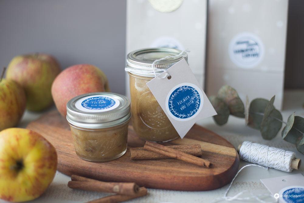 DIY Geschenke aus der Küche - Bratapfelmarmelade und NIO Stempel