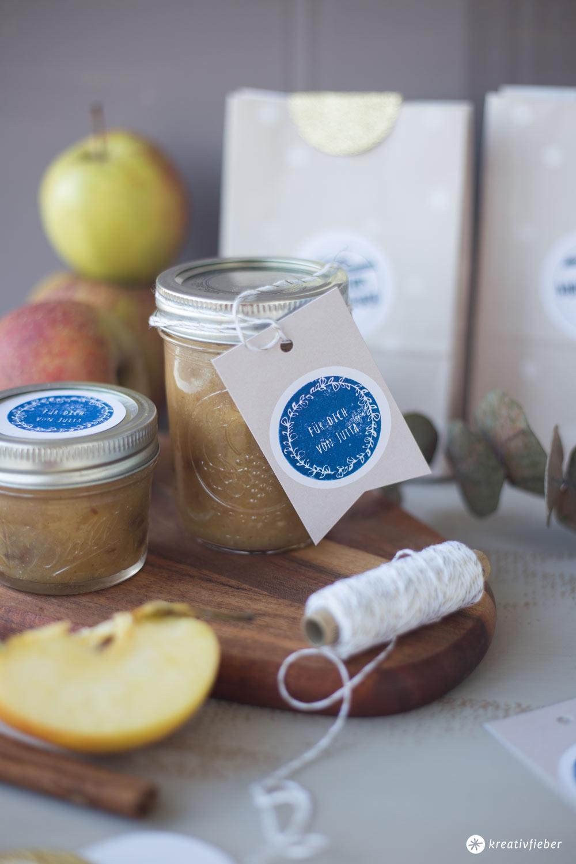 DIY Geschenke aus der Küche - Rezept für Bratapfelmarmelade - Wintermarmelade - Mitbringsel aus der Küche