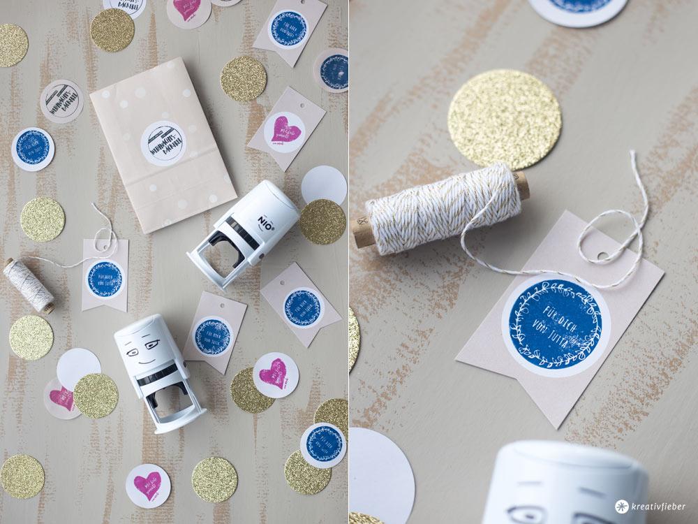 DIY Geschenke aus der Küche - individuelle Stempel für Geschenke mit NIO selbermachen