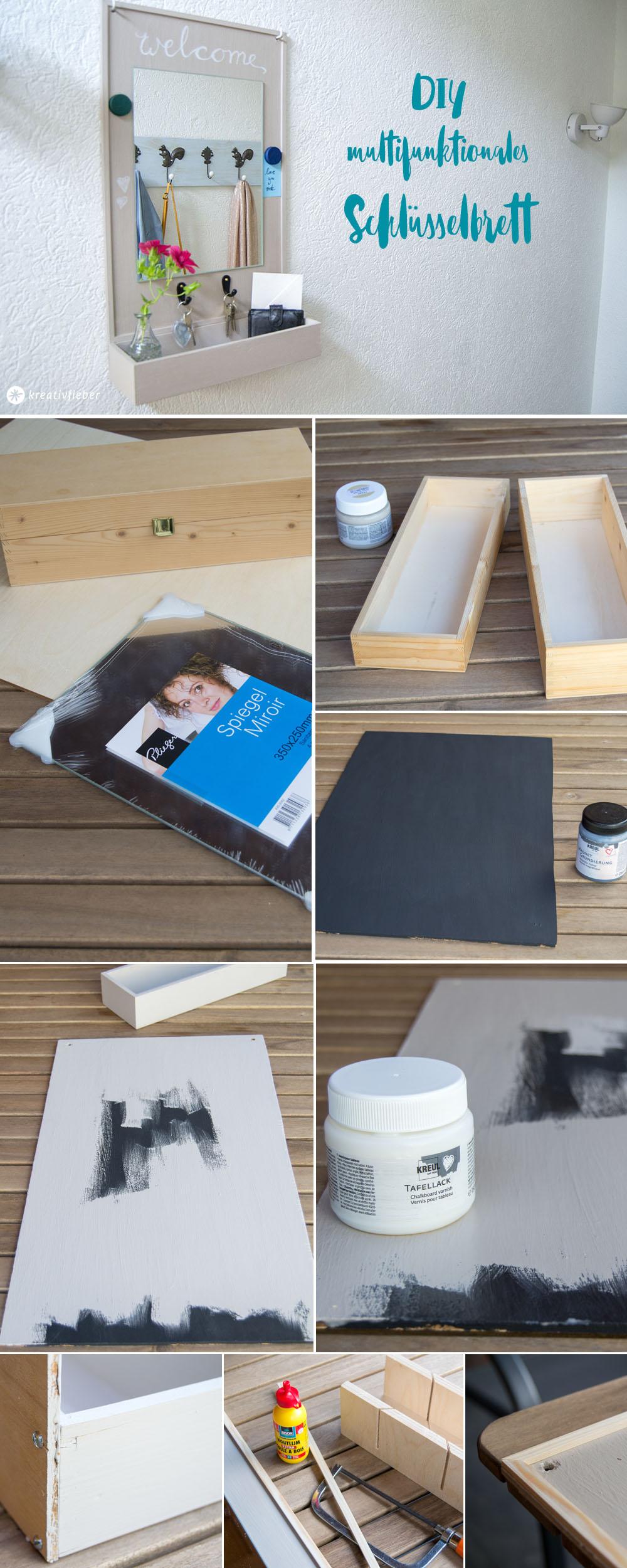 DIY Anleitung Tutorial Schlüsselbrett bauen Briefablage Magnetboard