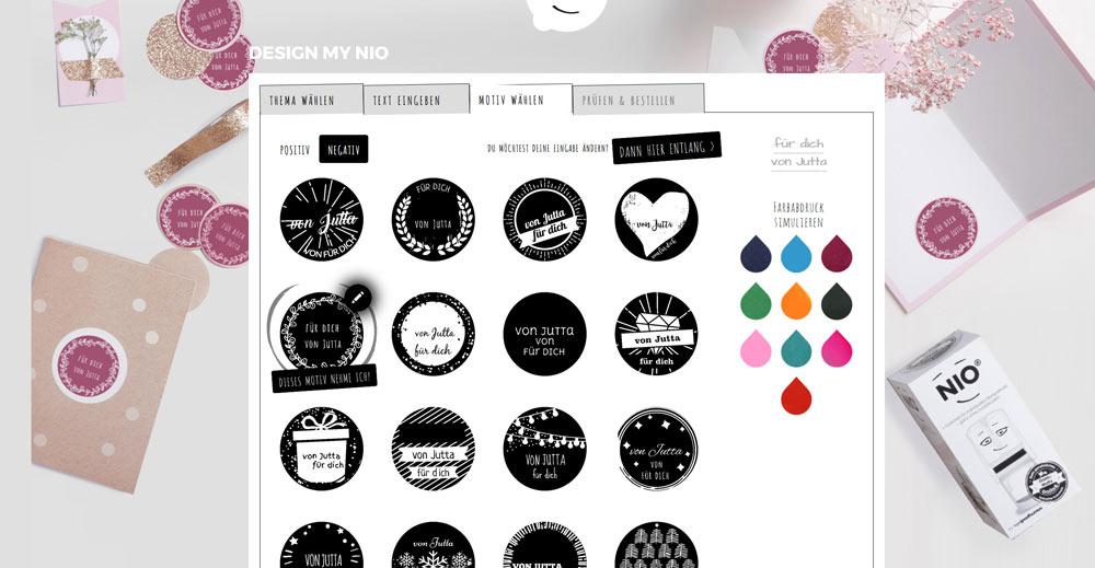 Motive im NIO Stempeldesigner - individuelle Stempel für Geschenke aus der KücheKreativfieber
