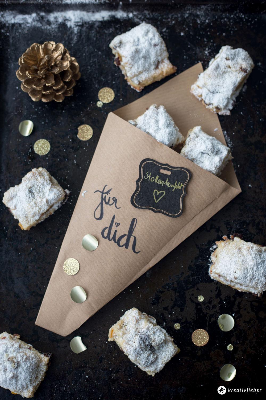 Stollenkonfekt mit Cranberrys backen - DIY Geschenke aus der Küche - Weihnachtsbäckerei Rezeptideen
