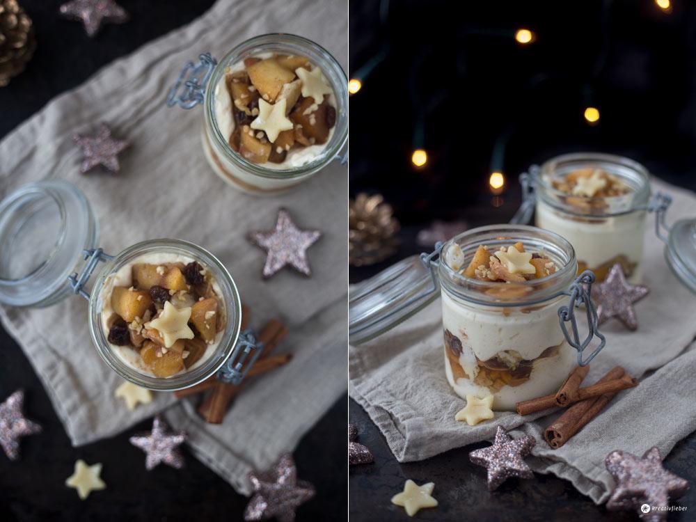 Bratapfel Tiramisu mit Spekulatius - leckeres Dessert für Weihnachten - Nachtisch Rezeptideen auf Kreativfieber