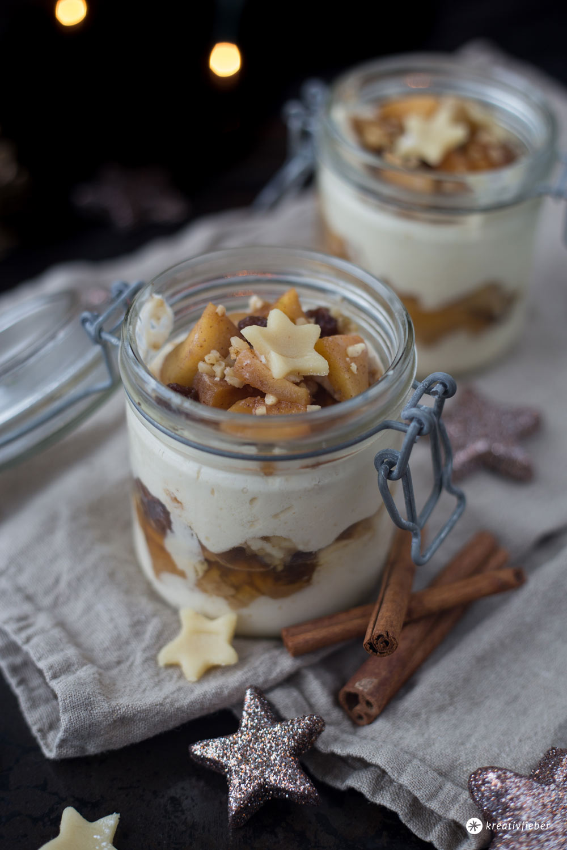 Bratapfel Tiramisu mit Spekulatius - leckeres Dessert für Weihnachten - Nachtisch Rezeptideen