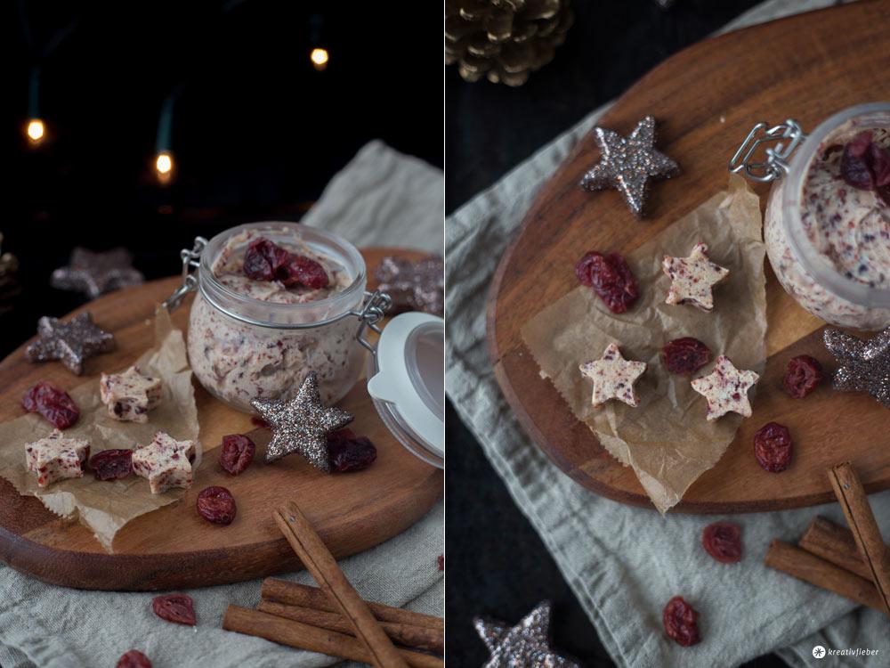 Cranberry Butter mit Zimt und Spekulatius - Last Minute DIY Geschenke aus der Küche - Weihnachtsfrühstück
