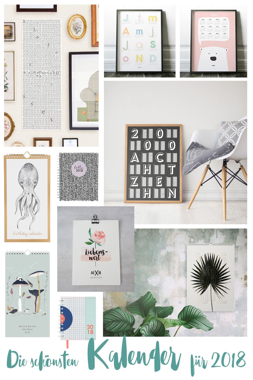 Die schönsten Kalender 2018 - Weihnachtsgeschenkideen - Wandkalender, Taschenkalender und mehr