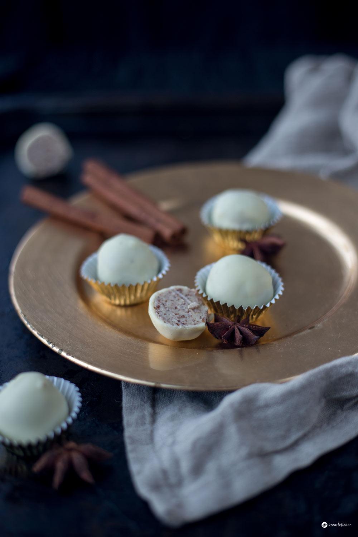 Helle Chai Trüffel - DIY Last Minute Geschenke aus der Küche - einfache Pralinen selbermachen