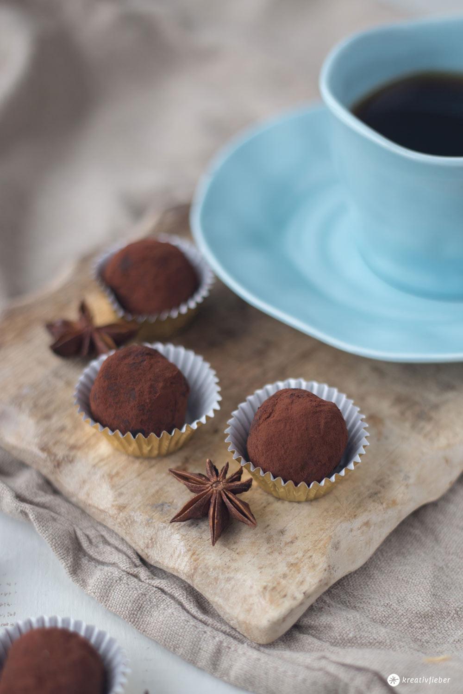 Schokoladen Chai Trüffel selbermachen - DIY Last minute Geschenkidee aus der Küche