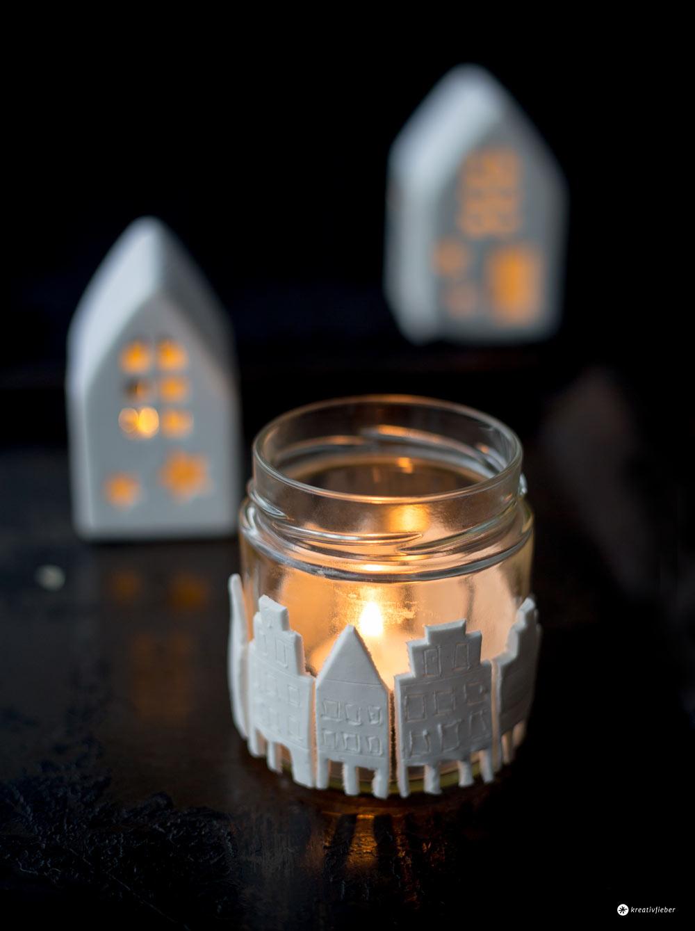 DIY Prinzipalmarkt Leuchtglas - Münster zum Mitnehmen - DIY Münster Deko selbermachen mit Modelliermasse