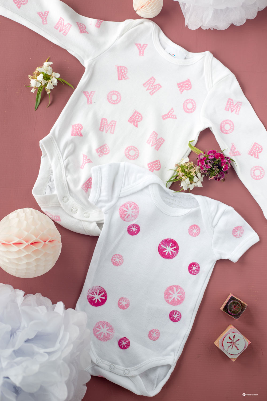DIY Babybodys bestempeln - 5 Tricks für die perfekten bestempelten Babybodys - DIY Babyshower Ideen