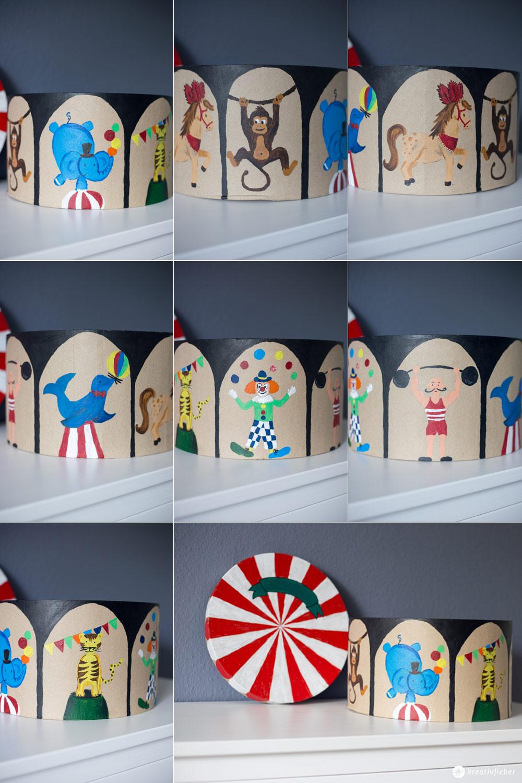 DIY Zirkus Schachtel fürs Kinderzimmer - Mehr Ordung im Kinderzimmer - Zirkusschachtel zum Bespielen - DIY Kids