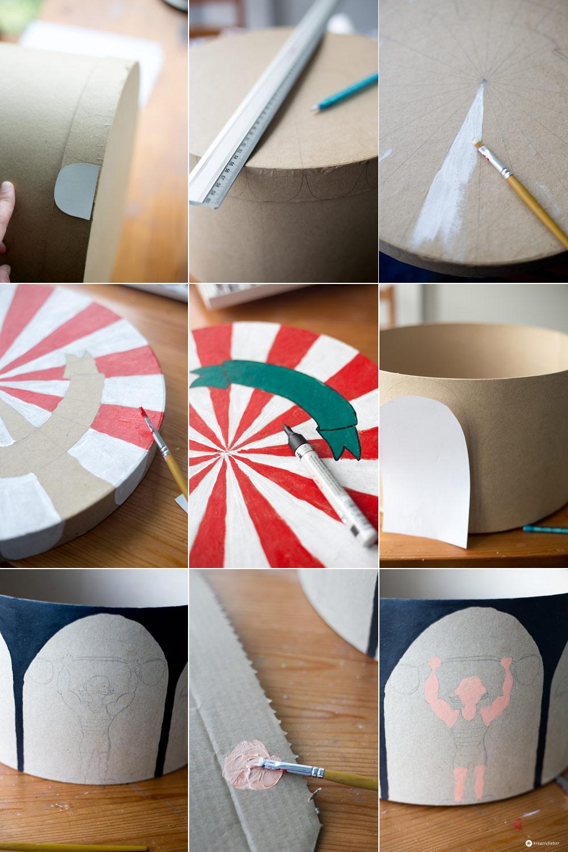 DIY Zirkus Schachtel fürs Kinderzimmer - Schritt für Schritt basteln