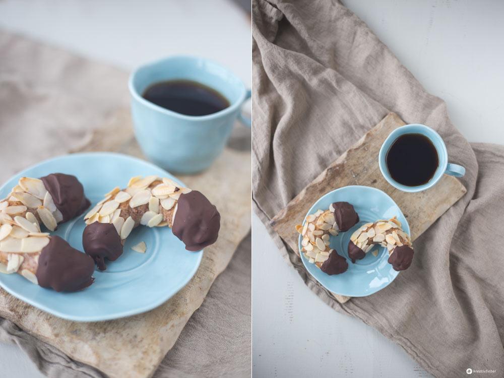 Mandelhörnchen mit Marzipan backen - einfaches Rezept für Gebäck auf Kreativfieber