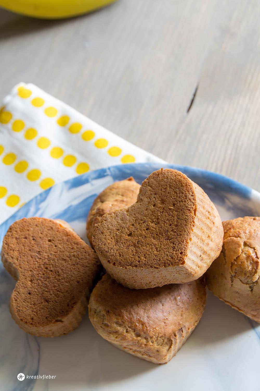 Bananenbrot-Muffins ohne Industriezucker vagere Rezepte Muffins