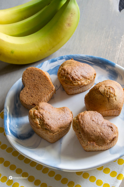 vegane Bananenbrot-Muffins Rezept