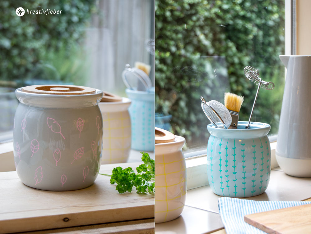 DIY Vorratstopf bemalen Ordnung Küche