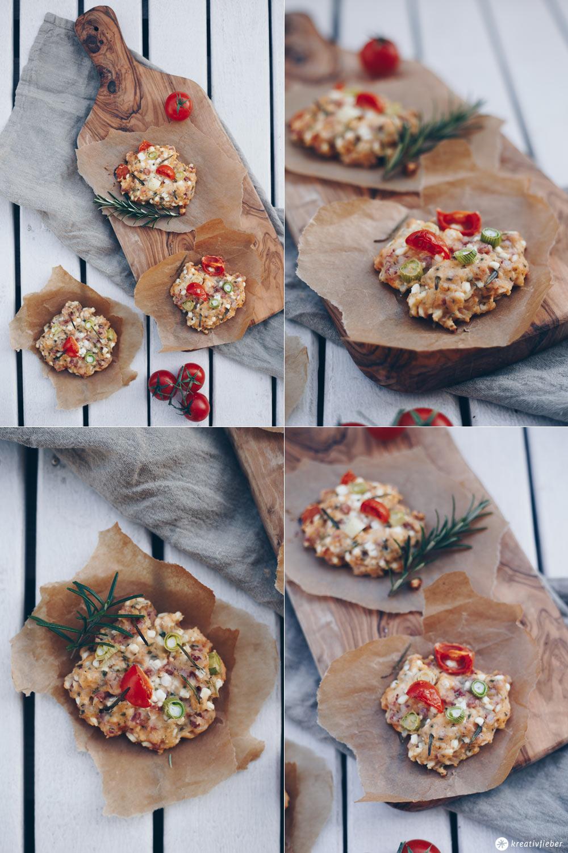 Hüttenkäsetaler selbermachen - einfaches Snackrezept - Picknick und Proviant