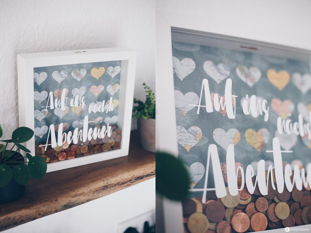 DIY Geldgeschenk zur Hochzeit - Geld für die Hochzeitsreise kreativ verpacken im Ribba Rahmen IKEA - DIY IKEA Hack